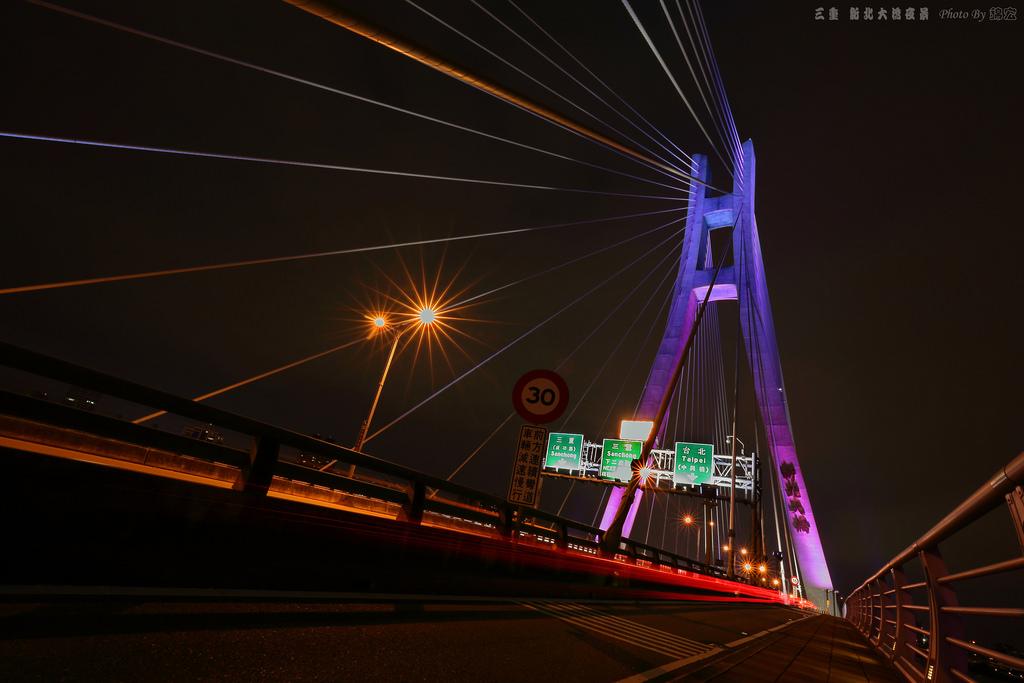 三重新北大橋夜景隨拍
