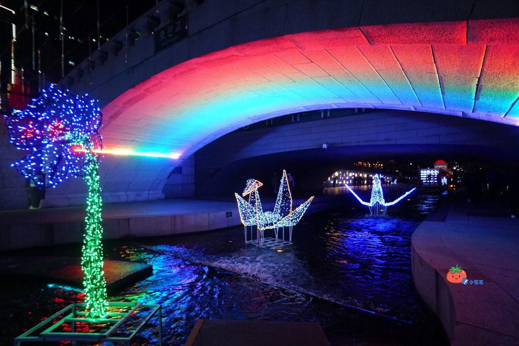 首爾自由行 清溪川聖誕季 明洞新世界百貨